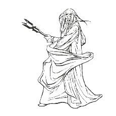 Saruman Coloring Pages