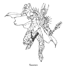 Lord Of The Rings Sauron Coloring Pages