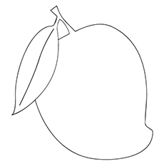 mango coloring pages simple mango