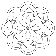 10 free printable rangoli coloring pages for your little one