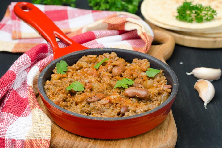 Skillet Beans With Tortillas And Potatoes