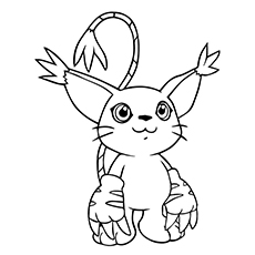 digimon coloring pages tailmon - Digimon Coloring Pages