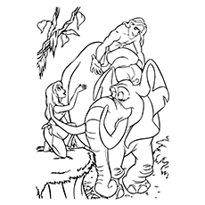 tarzan coloring pages tantor