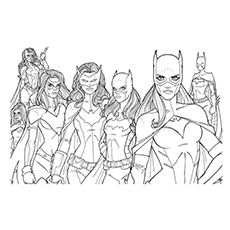 batgirl coloring pages the batgirls