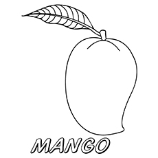 mango coloring pages the delicious mango