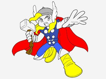 10 Best Thor Coloring Pages For Toddlers