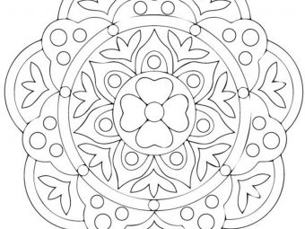 Rangoli Coloring Pages For Your Little One