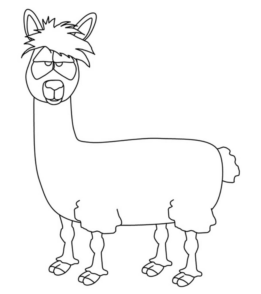 10 ticks calculator coloring book pages | 10 Cute Free Printable Llama Coloring Pages Online