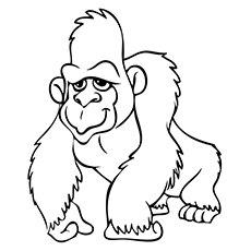 ajax gorilla coloring page to print