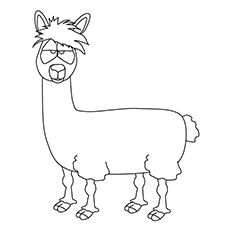 llama coloring pages 10 Cute Free Printable Llama Coloring Pages Online llama coloring pages