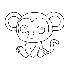 Chimpanzee Coloring Pages Baby Chimp