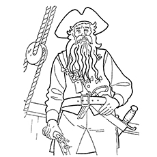 Top 10 Pirates Of The Caribbean Coloring Pages For Toddlers