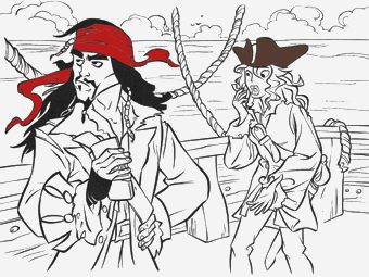 Top 10 Captain Jack Sparrow Coloring Pages For Toddlers