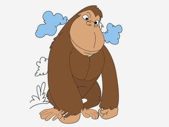 10 Cute Gorilla Coloring Pages For Your Little Ones