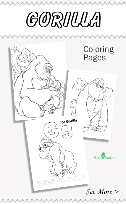gorilla coloring pages 20887