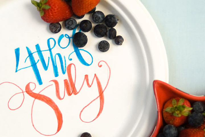 Fourth Of July Paper Picnic Plates