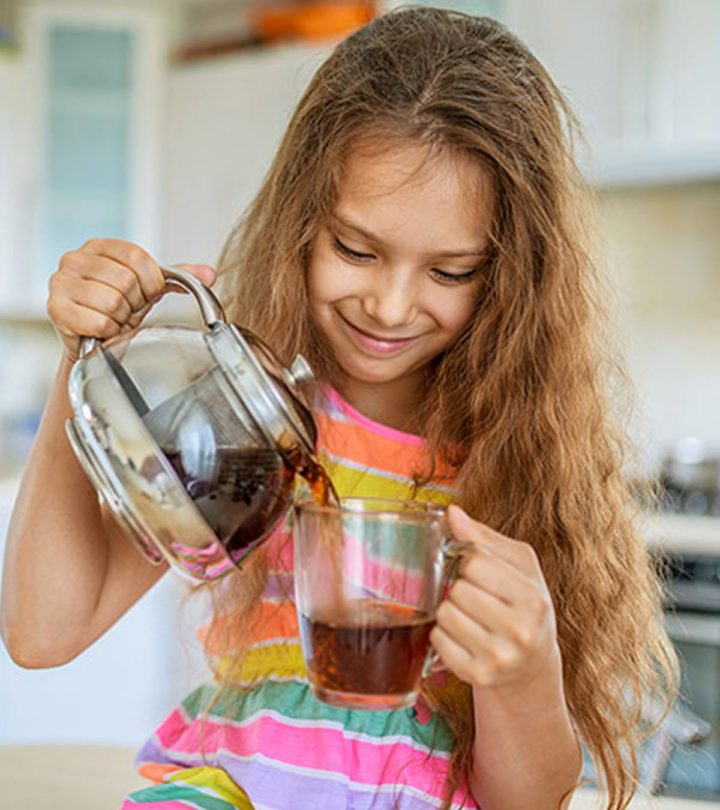 can kids drink green tea - Images