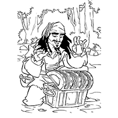 jack sparrow picture character named james norrington from pirate of caribbean coloring page