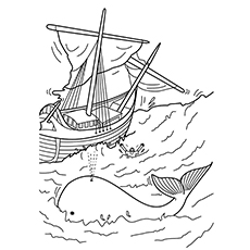 picture relating to Free Printable Jonah and the Whale Coloring Pages titled 10 Least complicated Cost-free Printable Jonah And The Whale Coloring Web pages