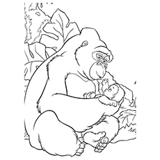 Gorilla Named Kala Coloring Page to Print