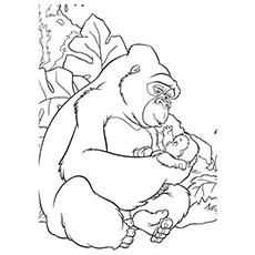 Gorilla Named Kala Coloring Page To Print