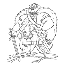 brave coloring pages king fergus - Brave Coloring Pages