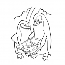 Kowalski And Skipper Trying To Solve A Puzzle