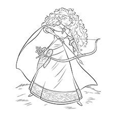 brave coloring pages merida - Brave Coloring Pages