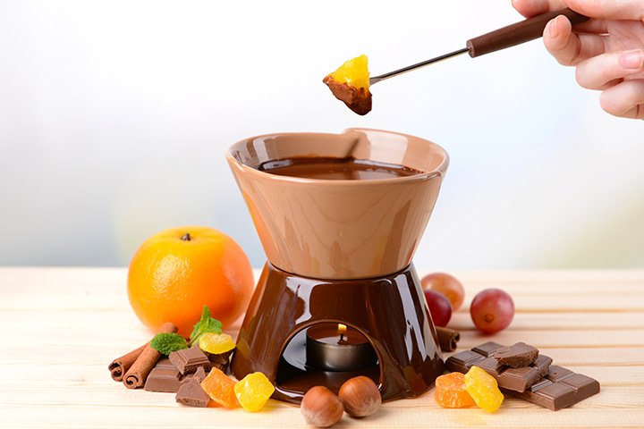 Orange Zest Chocolate Fondue