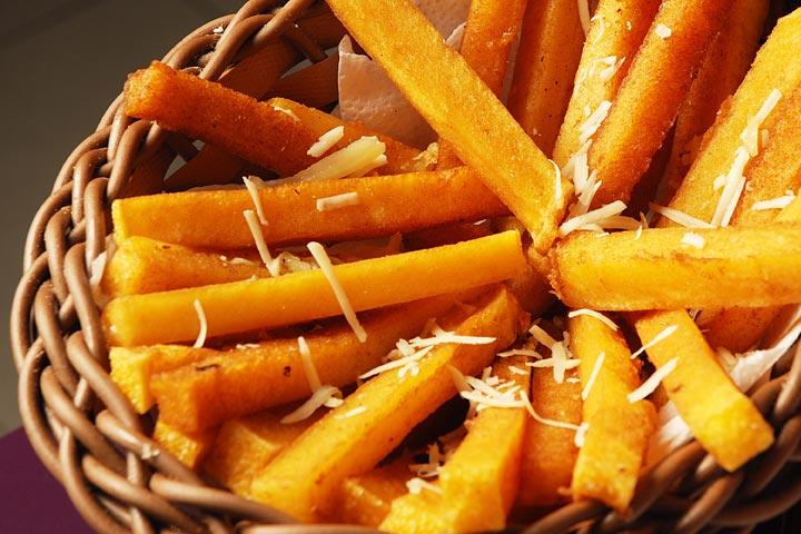 Pumpkin Polenta Cheese Fries