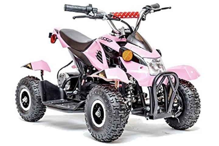 Rosso Motors ATV Kids Quad 4 Wheeler for girls
