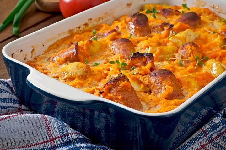 Sausage And Pumpkin Roast