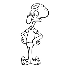 Squidward Tentacles Coloring Page