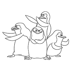 penguins of madagascar coloring pages private the penguins in action - Madagascar Coloring Pages