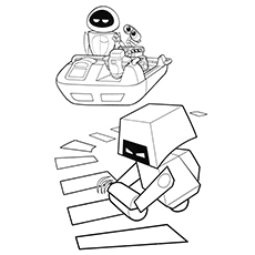 wall e coloring pages the trio