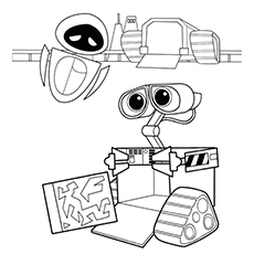 wall e coloring pages wall e and eve