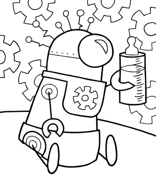 20 Cute Free Printable Robot Coloring Pages Onlinerhmomjunction: Robot Cartoon Coloring Pages At Baymontmadison.com
