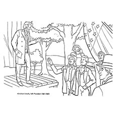 abraham lincoln coloring pages addressing people - Coloring Pages For Young Adults