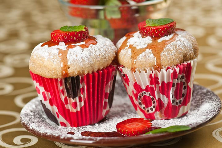 Apple And Strawberry Muffin