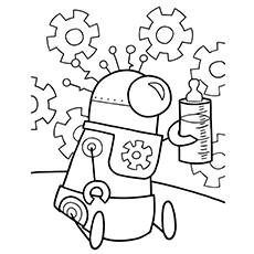 robot coloring pages baby robot