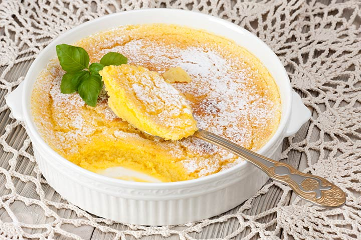 Baked Lemon And Vanilla Rice Pudding