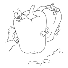 Pepper Coloring Page - Bell Peppers