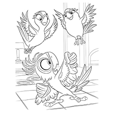 rio coloring pages bia with carla and tiago