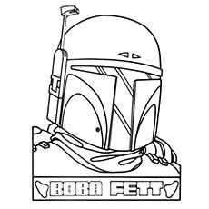 Boba Fett Coloring Page - Boba Fett's Helmet