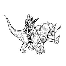 boba fett coloring page boba fett riding a ceratopsian - Jango Fett Coloring Page