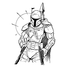 Boba Fett Coloring Page - Boba The Trainer