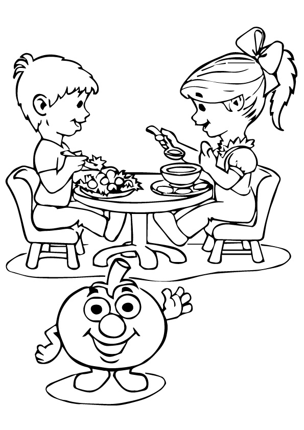 Children-Enjoying-Tomato-Dishes