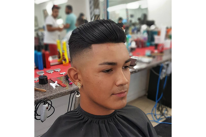 Combed Back Hair - cool boy hairstyles Pictures