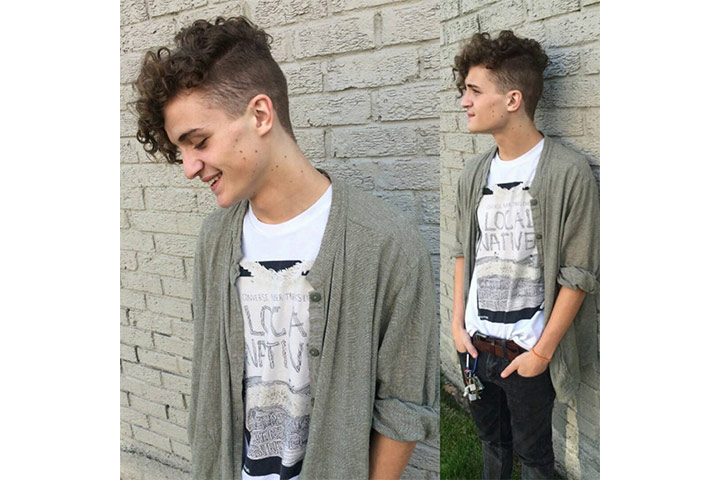 Curly Undercut - cool haircuts for boys Pictures