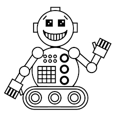 robot coloring pages cute robot - Coloring Page Robot